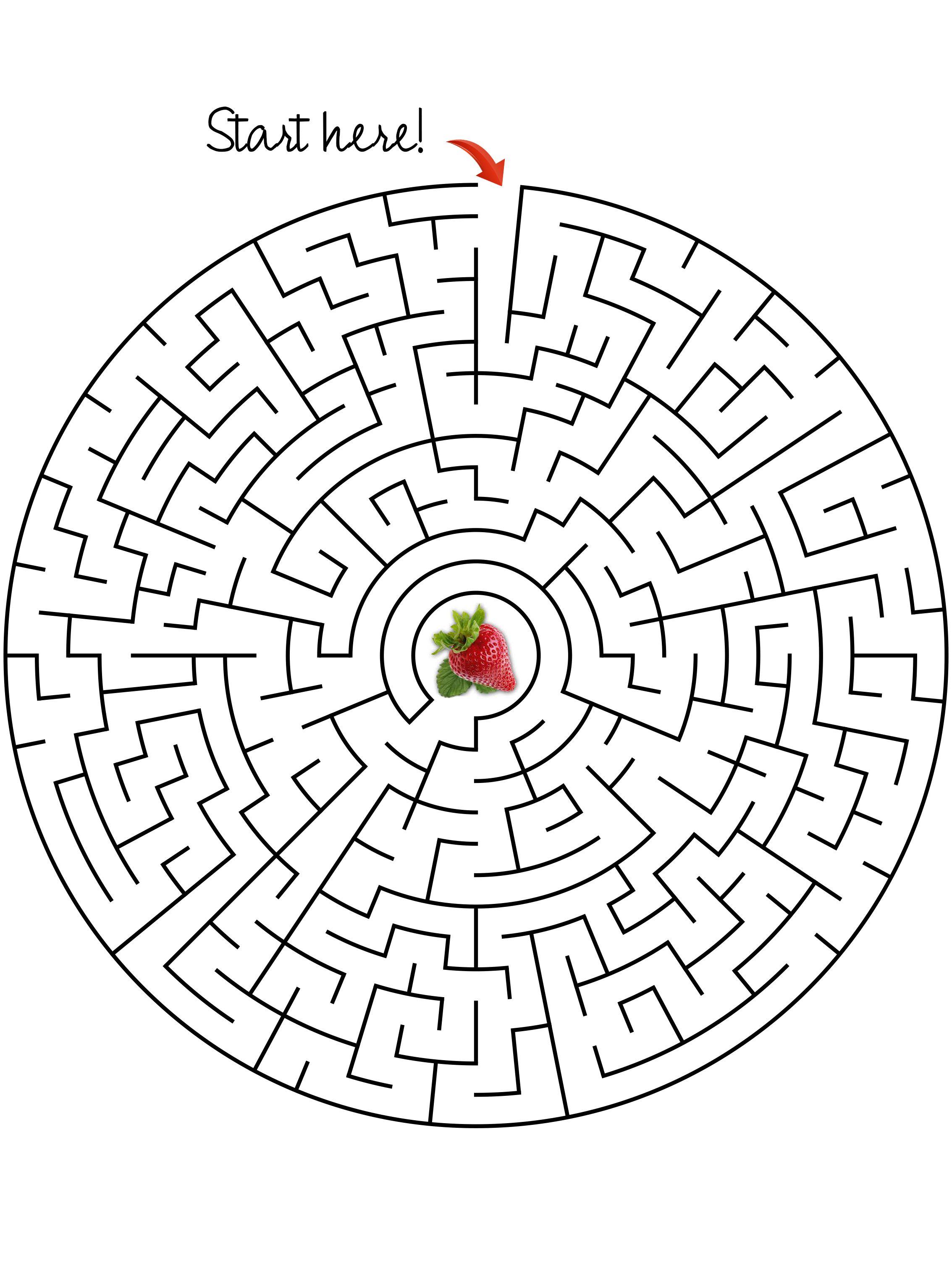 Maze Get The Strawberry Moderate