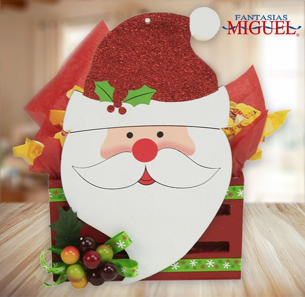 Dulcero navide o navidad santa claus decoraci n for Decoracion navidena manualidades