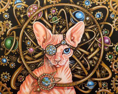Sphynx cat's logic by oliecannoligriffard