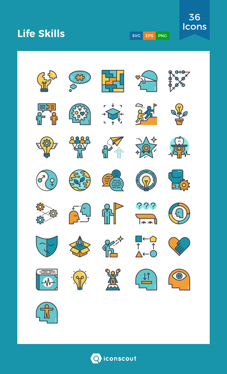 Download Life Skills Icon pack Available in SVG, PNG