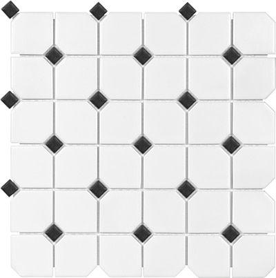 2 hexagon black and white matte finish