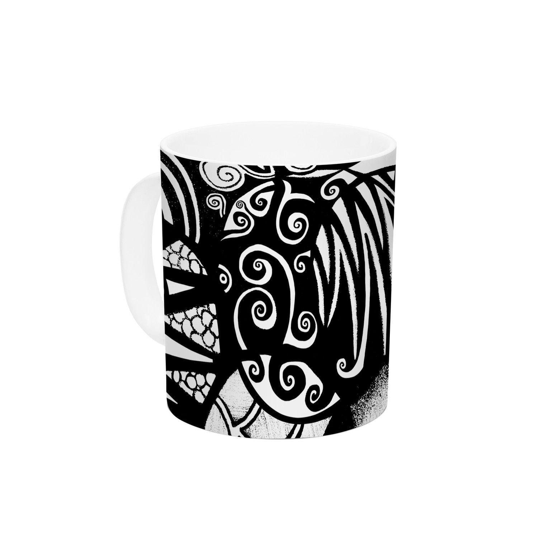 """Pom Graphic Design """"Circles and Life"""" Ceramic Coffee Mug"""