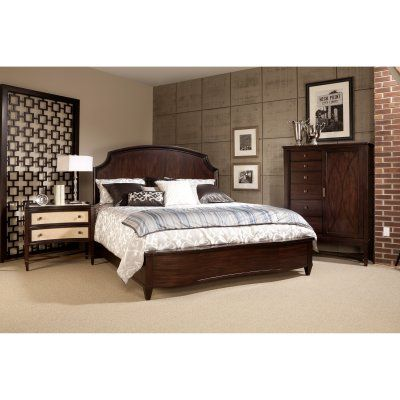 A.R.T. Furniture Intrigue Low Profile Panel Bed - Cola, Size: California King - 161137-2636, Durable