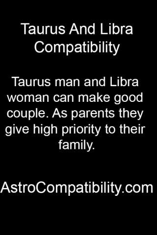 Compatibility of libra man and taurus woman