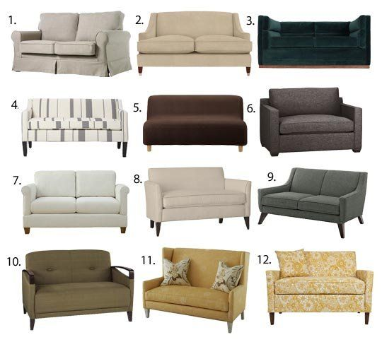 living room loveseats brown furniture small space seating sofas under 60 inches wide