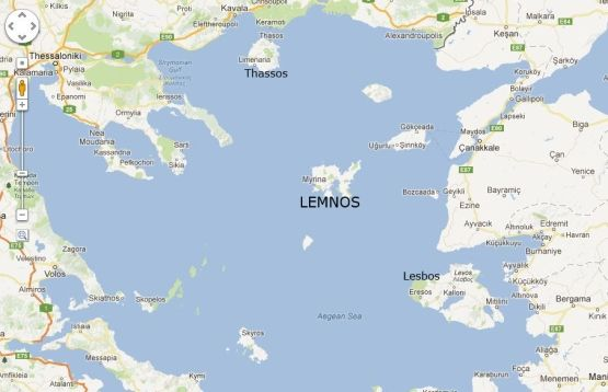 Lemnos Or Limnos Locator Map Lemnos Greece Travel Ocean View