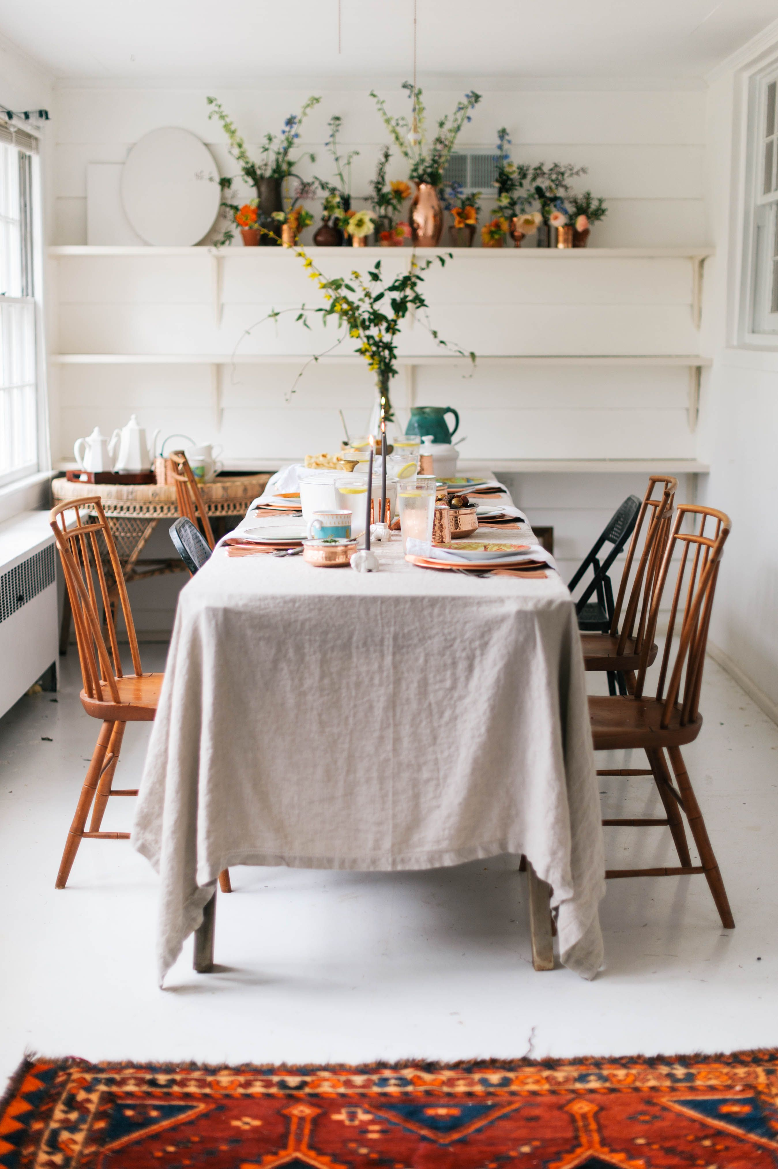 An India Inspired Feast With Williams Sonoma A Daily Something Dining Room Tablecloth Dining Room Design Rustic Dining Room Table
