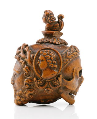 To die for? 18th century memento mori scent bottle