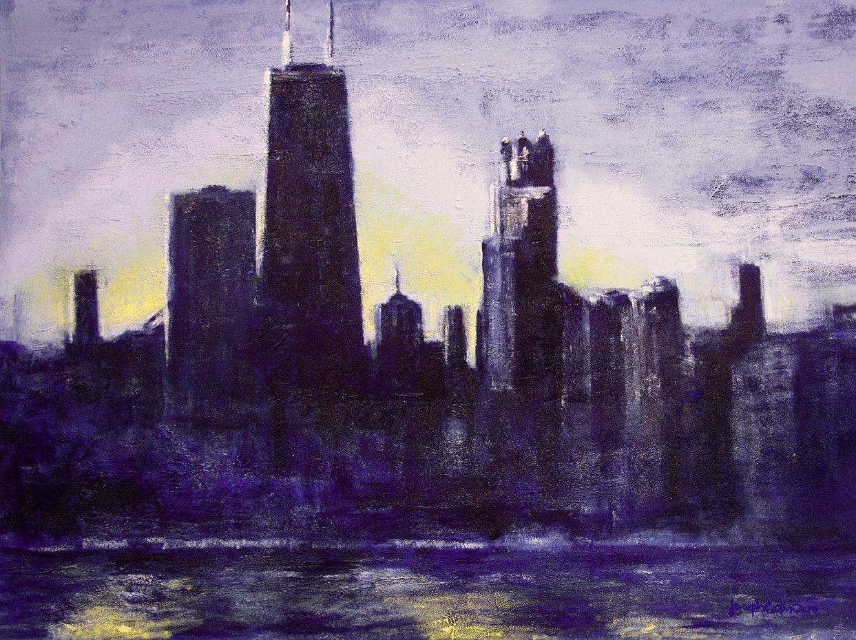 Chicago Skyline Art Print - \