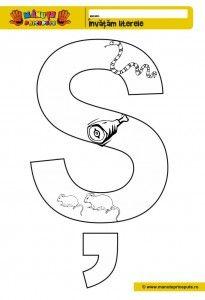Sh 010 Pagini De Colorat Cu Litera S Fise De Lucru Pentru