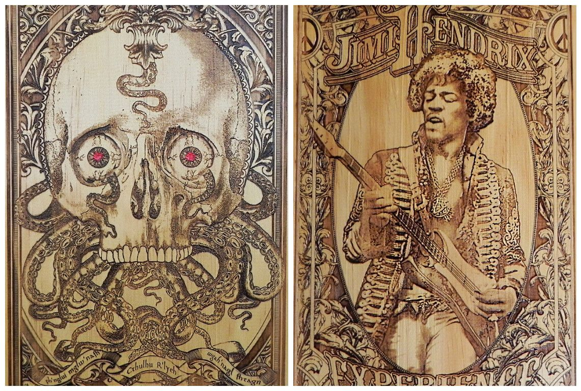 Gorgeous woodengraved posters youud be proud to put on your wall
