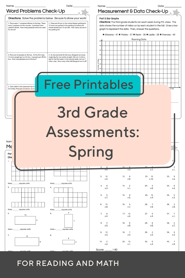 Evaluate Student Skills With These 3rd Grade Worksheets For Spring Math And Ela Assessment Educationd Math Assessment Student Skills Third Grade Worksheets [ 1102 x 735 Pixel ]