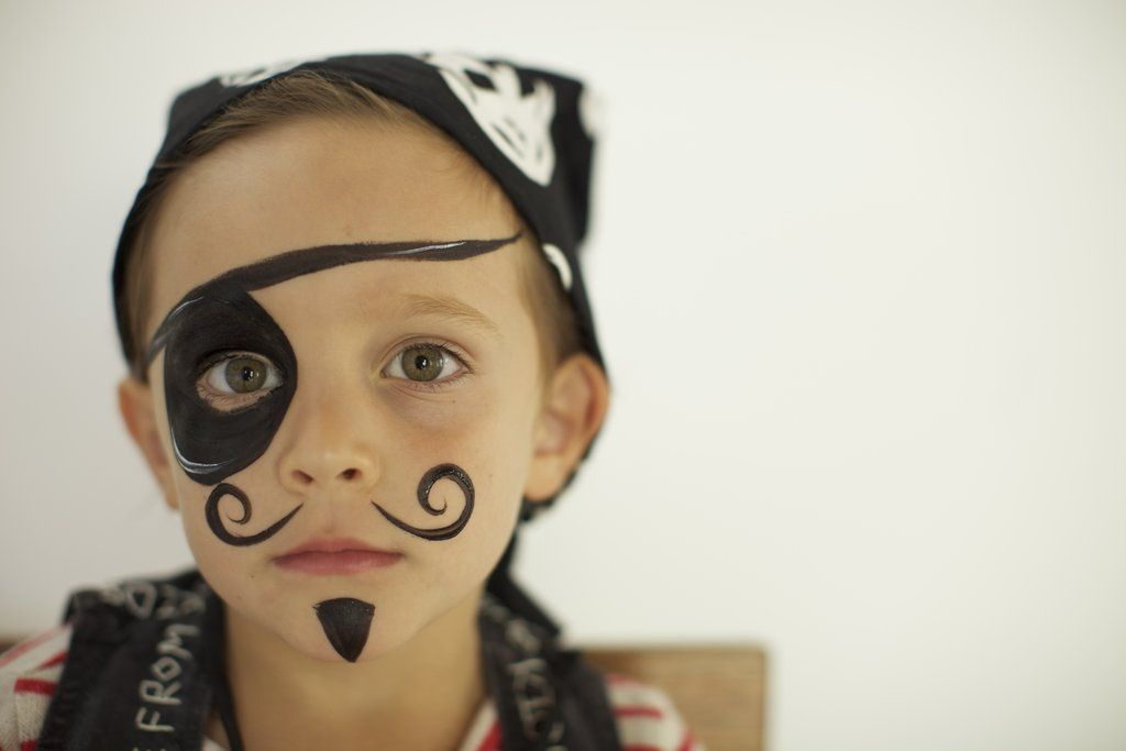 A hip pirate party thrown for a designer kid pirate face