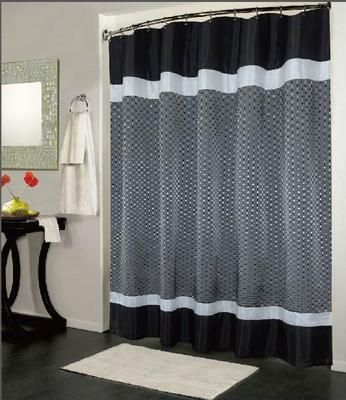 Trafalgar 5 Pcs Bath Set Shower Curtain Plush Bath Mat Terry