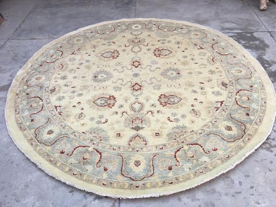 9X9 Afghan rug chobi Round rug handwoven kilim rug bedroom rug wool rug tribal rug Nomdic rug turkis