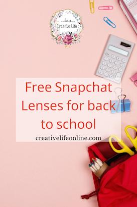 عدسات سناب شات مجانية للمدرسة Free Snapchat Lenses For Back To School In 2020 Back To School School Snapchat