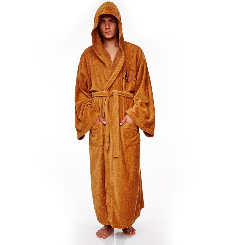 One Size Adult Bathrobe Star Wars Ewok Character Fleece Hooded Dressing Gown
