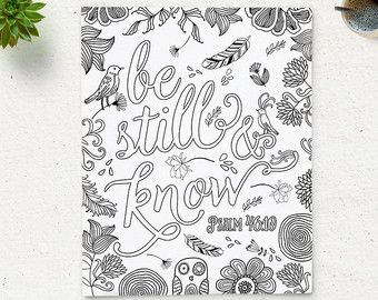 Bible Verse Printable Coloring Page Matthew  Instant Download