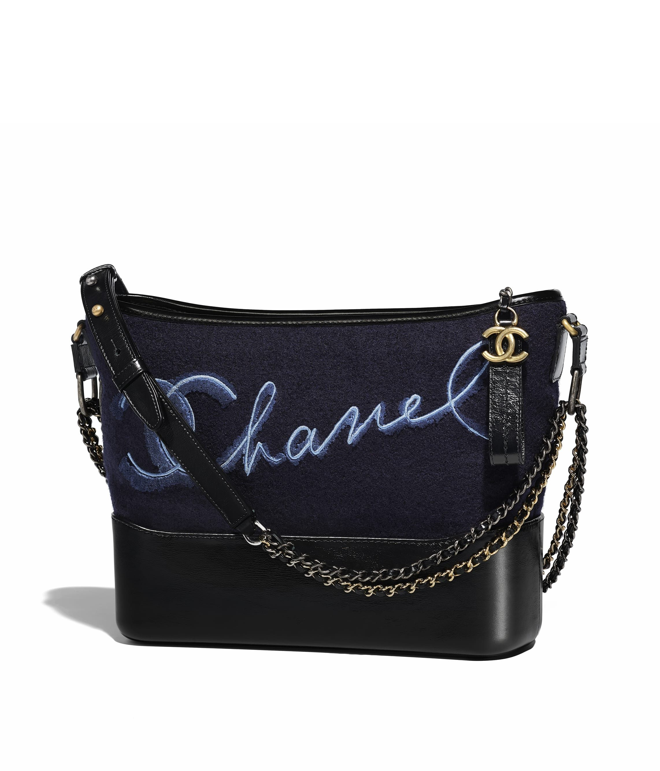 50079e740e5b Chanel - Métiers d'Art Paris-Hamburg 2017/18 | Navy blue & blue Chanel's  Gabrielle Hobo bag