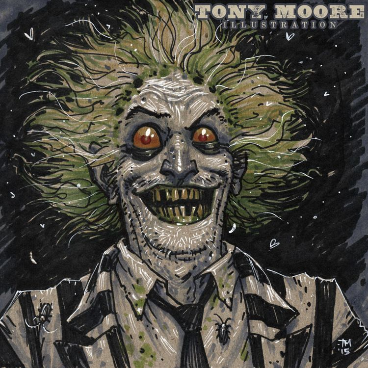 Sketch of the Day! BEETLEJUICE by Tony Moore www.tonymooreillustration.com
