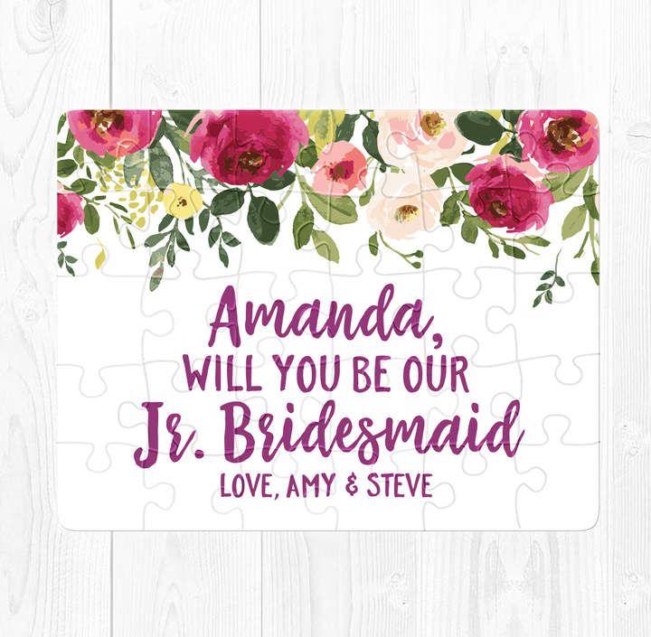 Etsy junior bridesmaid proposal puzzle junior bridesmaid