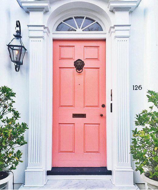 The Instagrammers Guide To Charleston Sc Front Door Pink Front Door Doors