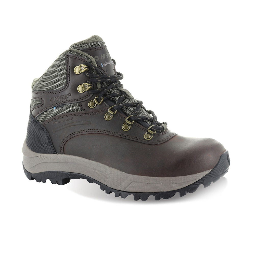 Hi-Tec Waterproof Storm Leather Womens Suede Lace Up Walking Grey Trail Boots