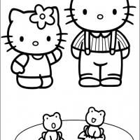 Hello Kitty - Hello Kitty and her boyfriend Dear Daniel coloring page | Hello Kitty And Dear Daniel Coloring Pages  | title