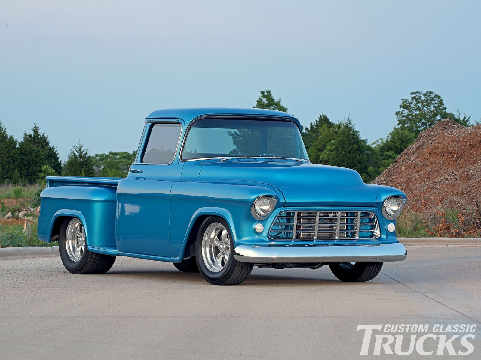 1955 chevrolet hot rod truck pictures to pin on pinterest - 1956 Chevy Pickup Truck Front Bumper Photo 1