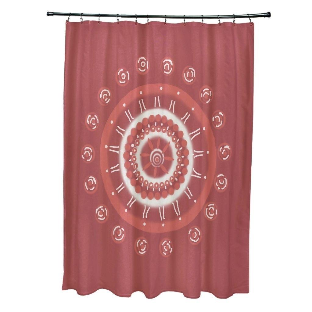 Floral Burst Pattern Shower Curtain