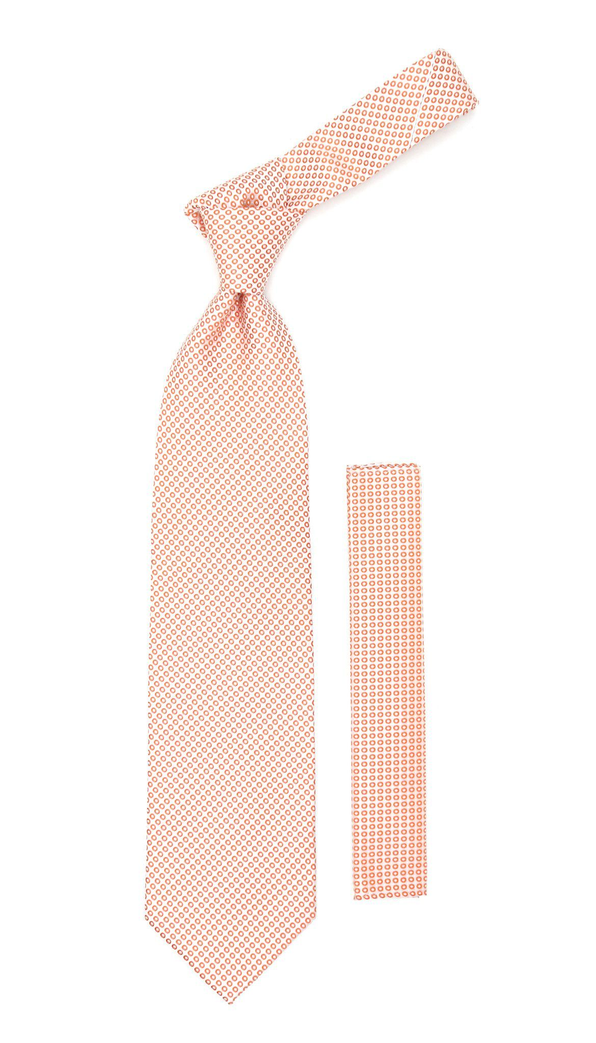 Orange Necktie with Handkerchief Set