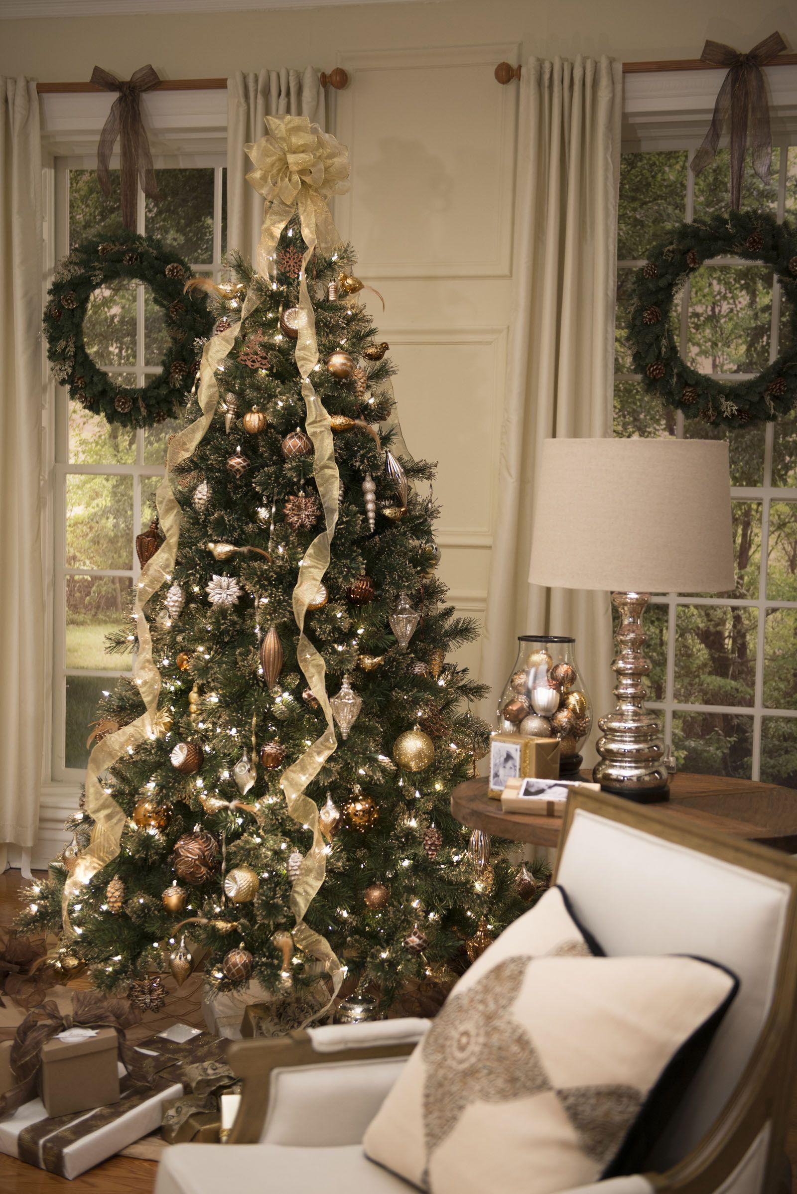 Martha Stewart Living Merry Metallic ornaments sparkle