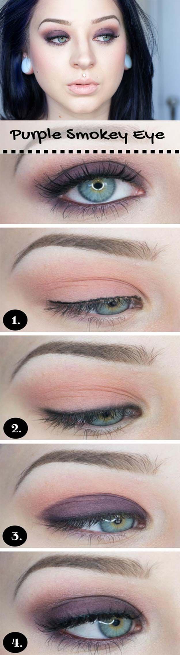 wedding makeup for blue eyes - easy wedding eye makeup tutorial