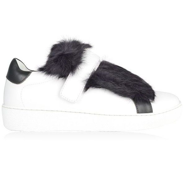 7d6f3d3495ff Moncler Lucie Fur Trainers ( 445) ❤ liked on Polyvore featuring shoes,  sneakers, white, white sneakers, moncler sneakers, fur shoes, fur lined  sneakers and ...