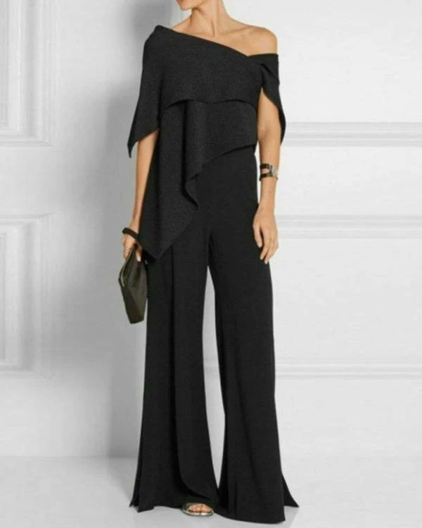 Fashion Off-Shoulder Pure Colour Jumpsuit in 2020 | Jumpsuits for women, Jumpsuit outfit, Casual jumpsuit
