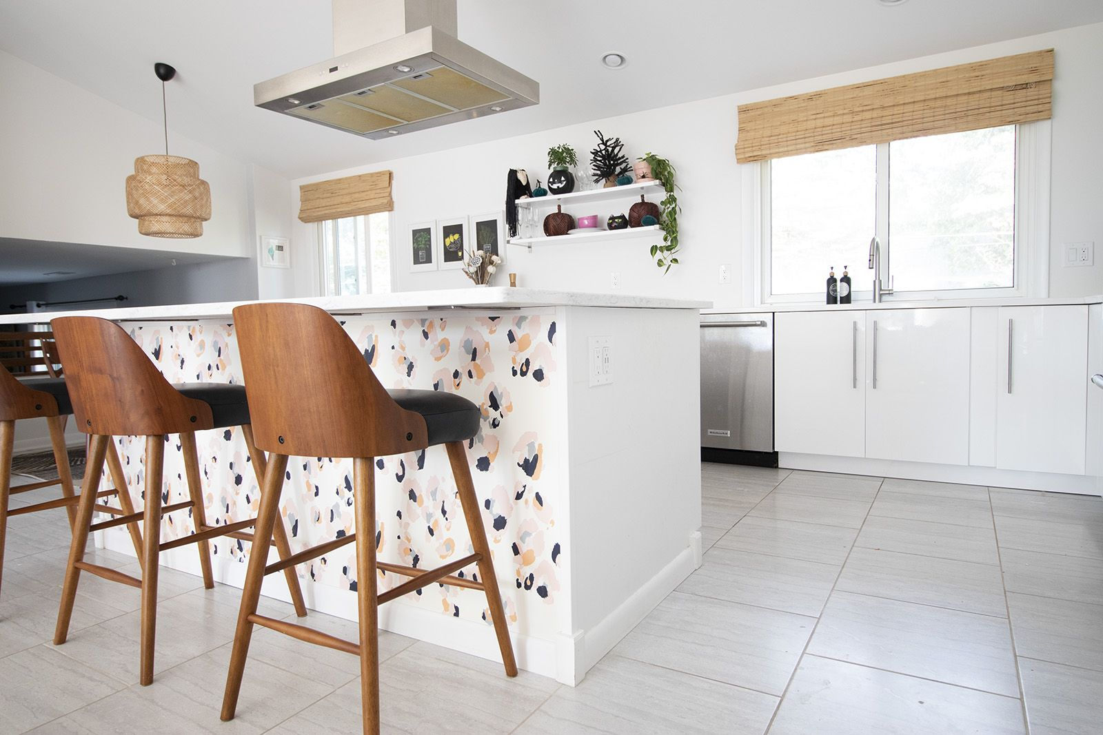 Wallpapering Our Kitchen Island Wallpaper Kitchen Island Kitchen Wallpaper Island Wallpaper