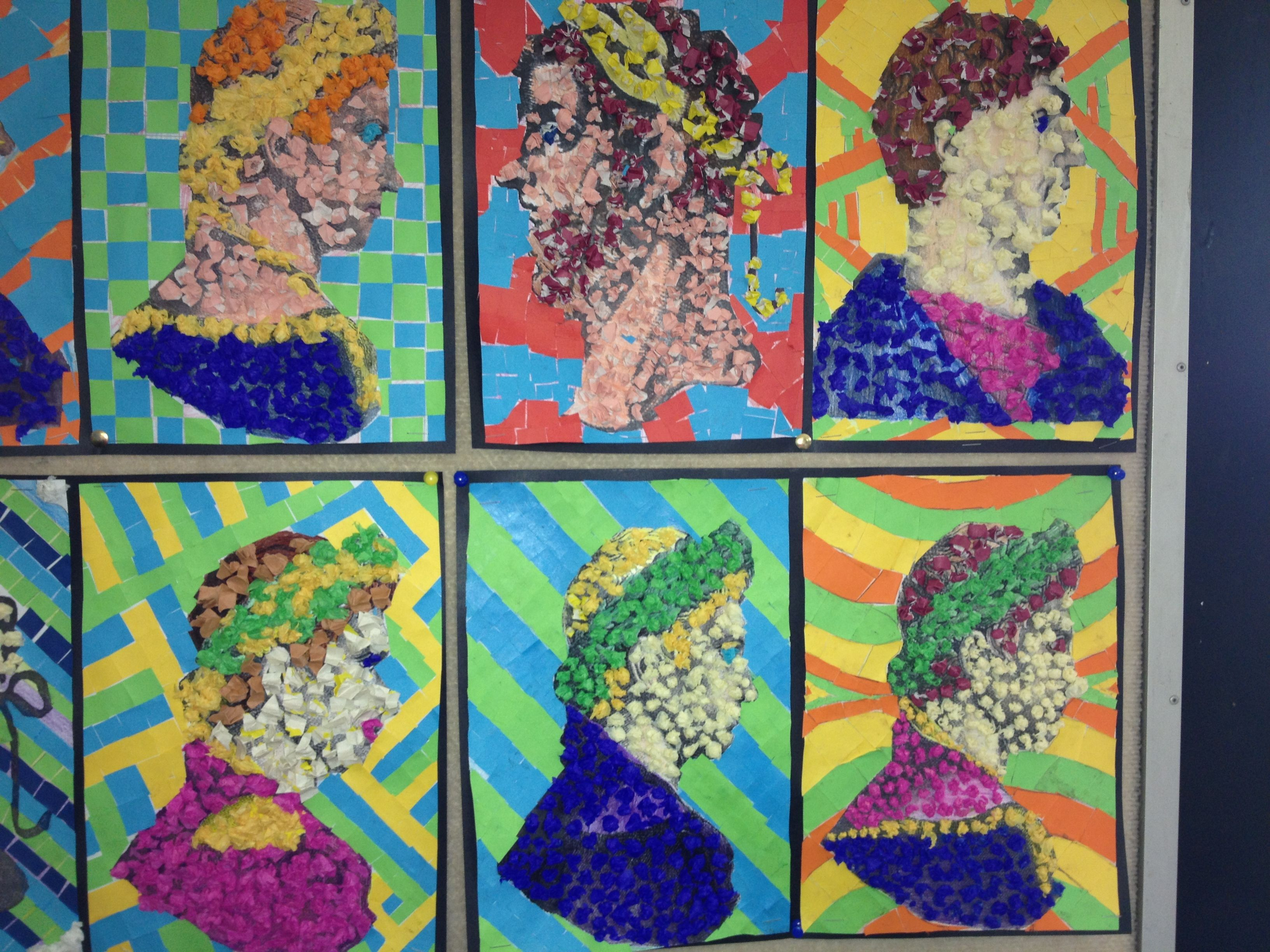 My Ancient Rome Art Project With A Year 6 7 Class Colour In A Face Portrait Of A Roman Emperor
