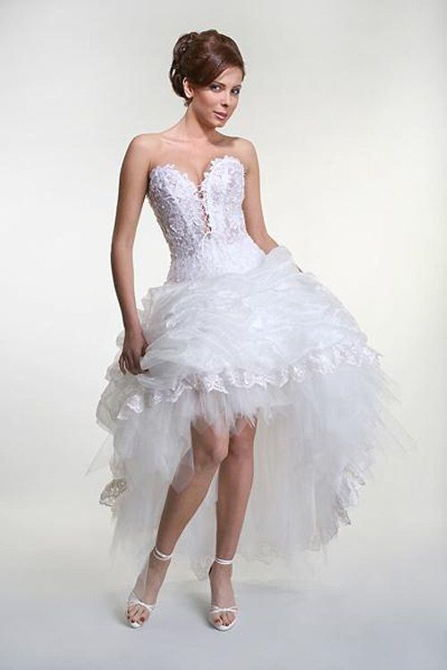 Short Wedding Gowns 2012 For Your Elegance Look This Is The Exact Style But I Dont Dig Feathery Mess Im More Of A Tutu Chick Still That