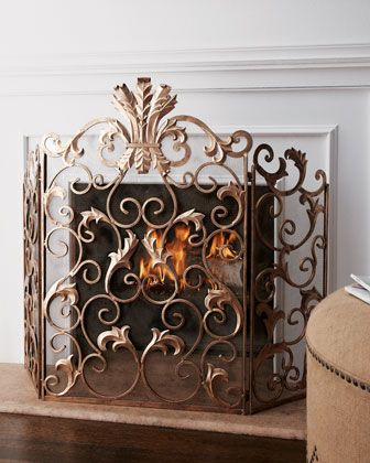 Acanthus Fireplace Screen Fireplace screens Neiman marcus and