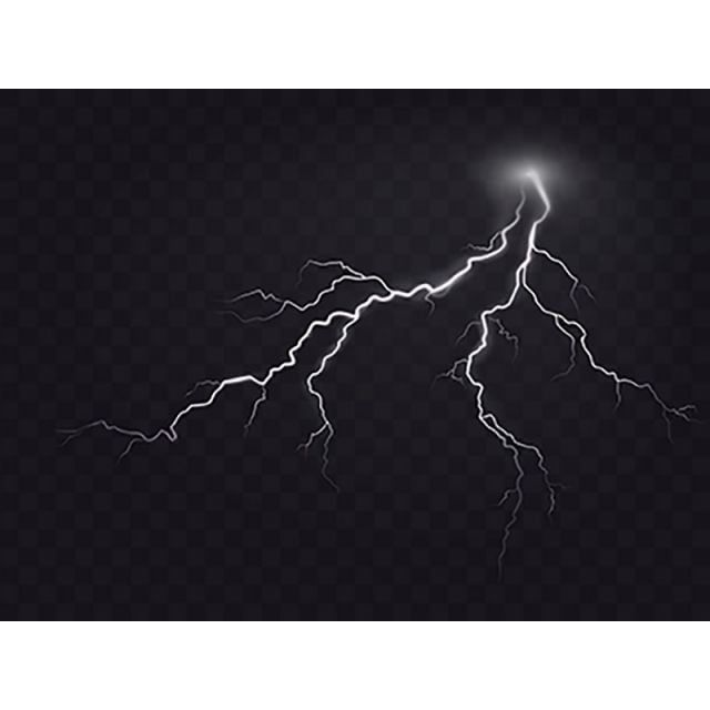 Vector Illustration Of A Realistic Style Of Bright Glowing Light Ning Electricity Thunder Png And Vector With Transparent Background For Free Download Vector Illustration Light Bulb Icon Thunderbolt Illustration