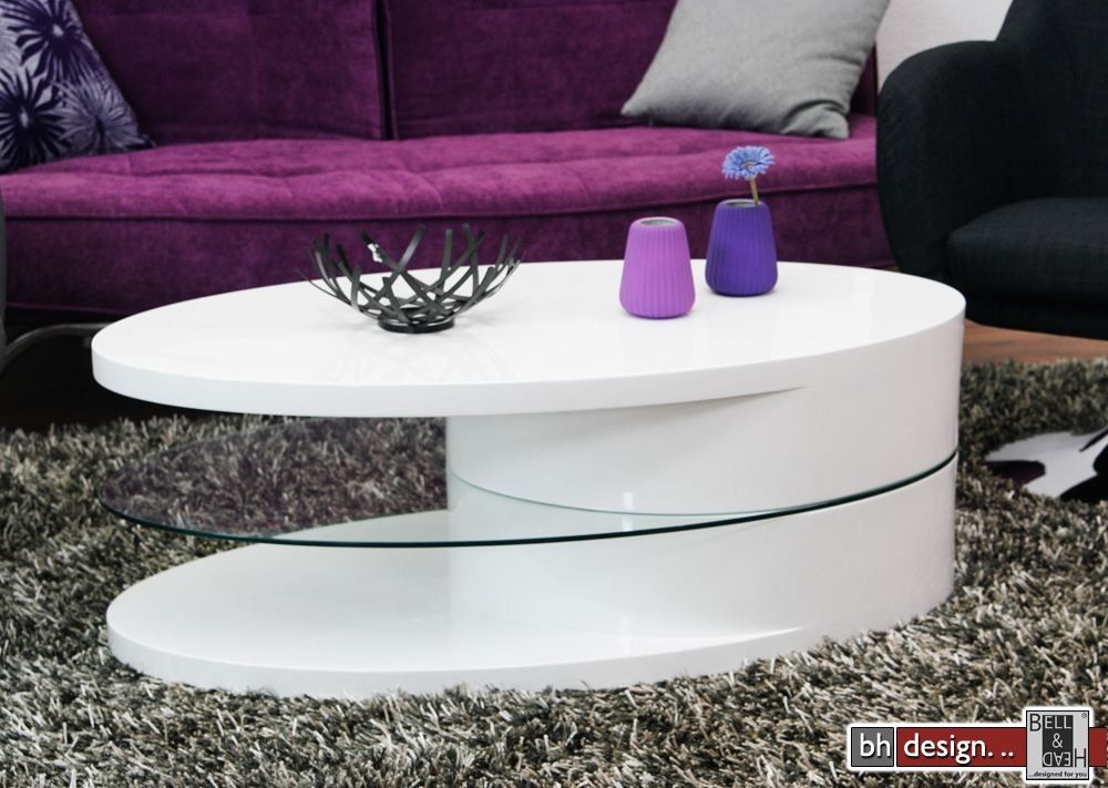 Trieste 2 Couchtisch Hochglanz Weiss 115 Cm X 60 Cm Unbedingt - wohnzimmertisch hochglanz weiß