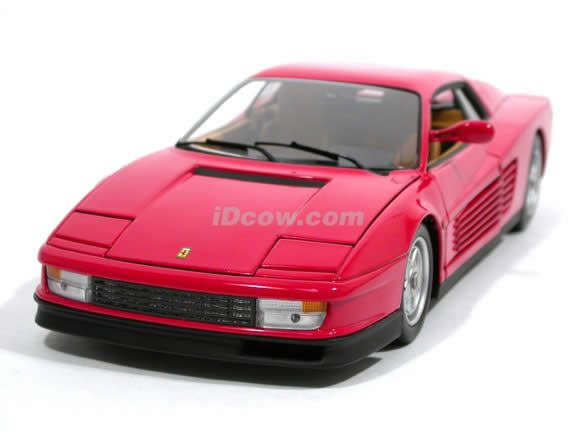 1 1 8 Scale Ferrari Diecast Cars 1984 Ferrari Testarossa Diecast Model Car 1 18 Scale Die Cast By Hot Diecast Model Cars Car Model Diecast Models