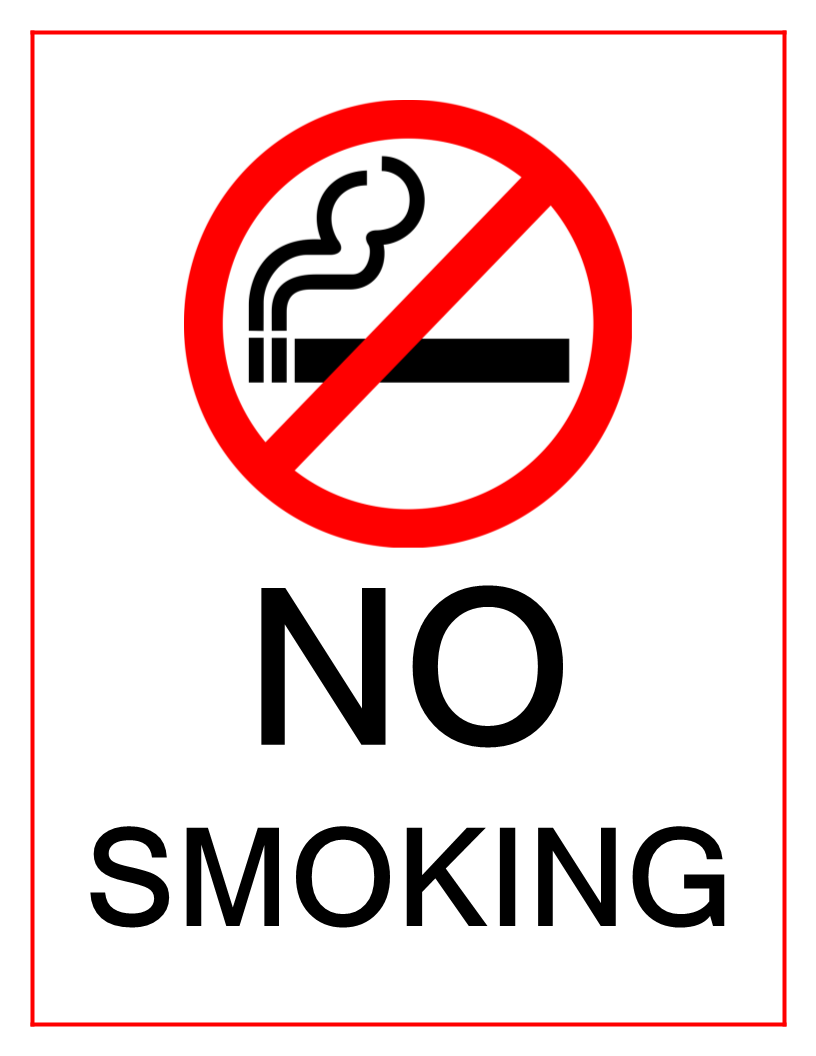 image relating to No Smoking Sign Printable called Pin upon Printable
