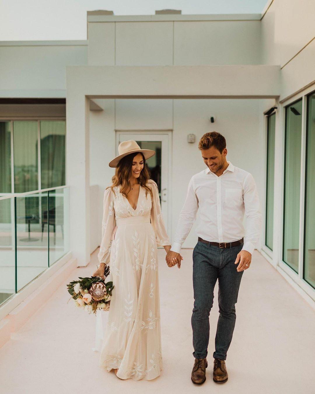 Bhldn Belize Dress Casual Wedding Attire Groom Wedding Attire Casual Beach Wedding [ 1350 x 1080 Pixel ]