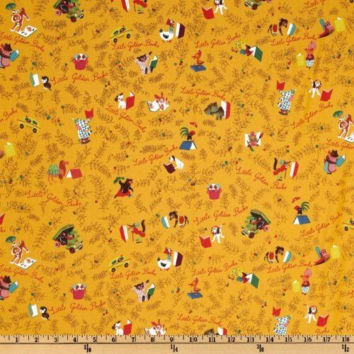 44'' Wide Little Golden Books Bookcover Sunshine By The Yard by Quilting Treasures, http://www.amazon.com/dp/B002LN1BAC/ref=cm_sw_r_pi_dp_PyZvrb1WJ9SD6
