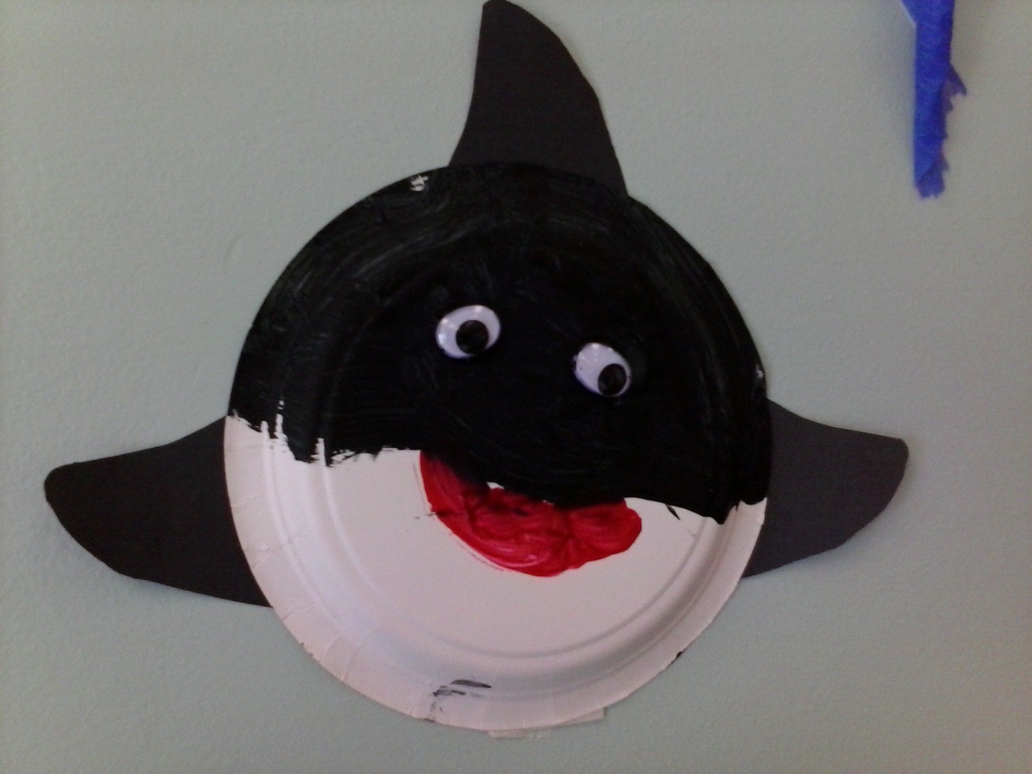 Paper Plate Killer Whale
