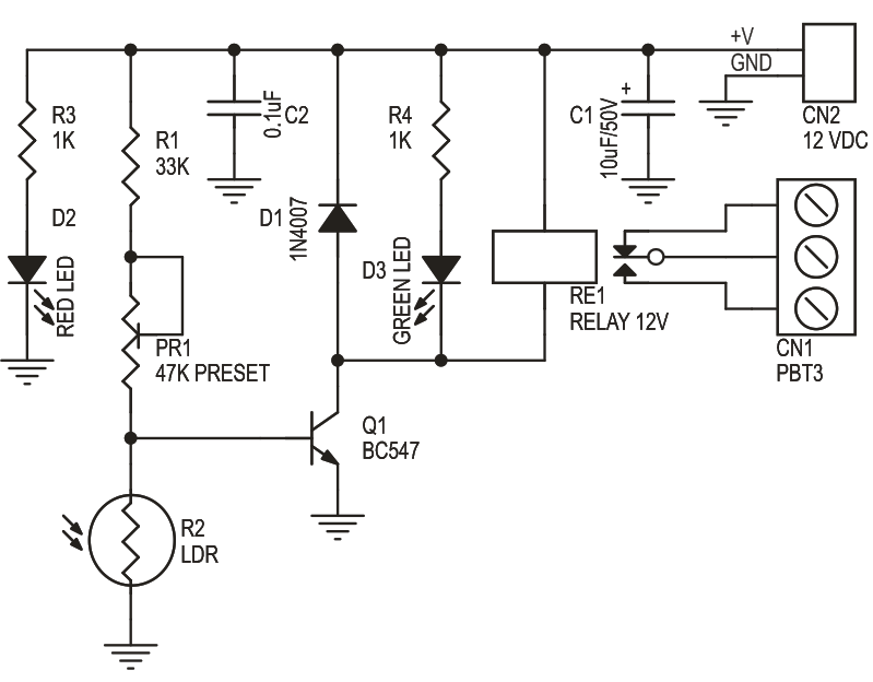 Description Dark Sensitive Switch is a simple project which operates ...