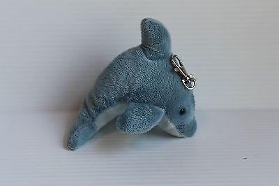 DOLPHIN PLUSH KEY CHAIN Wildlife Artists Clip On Stuffed Ocean Animal Toy
