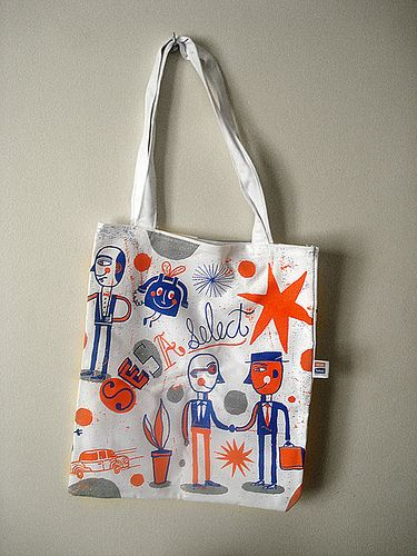 Silkscreen Tote Bag By Nate Williams Lied Ilration