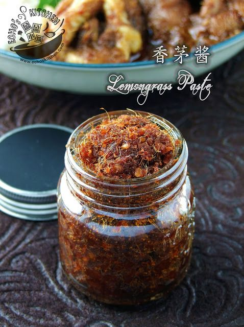 A taste of memories -- Echo's Kitchen: Vietnamese Style Spicy Lemongrass Paste